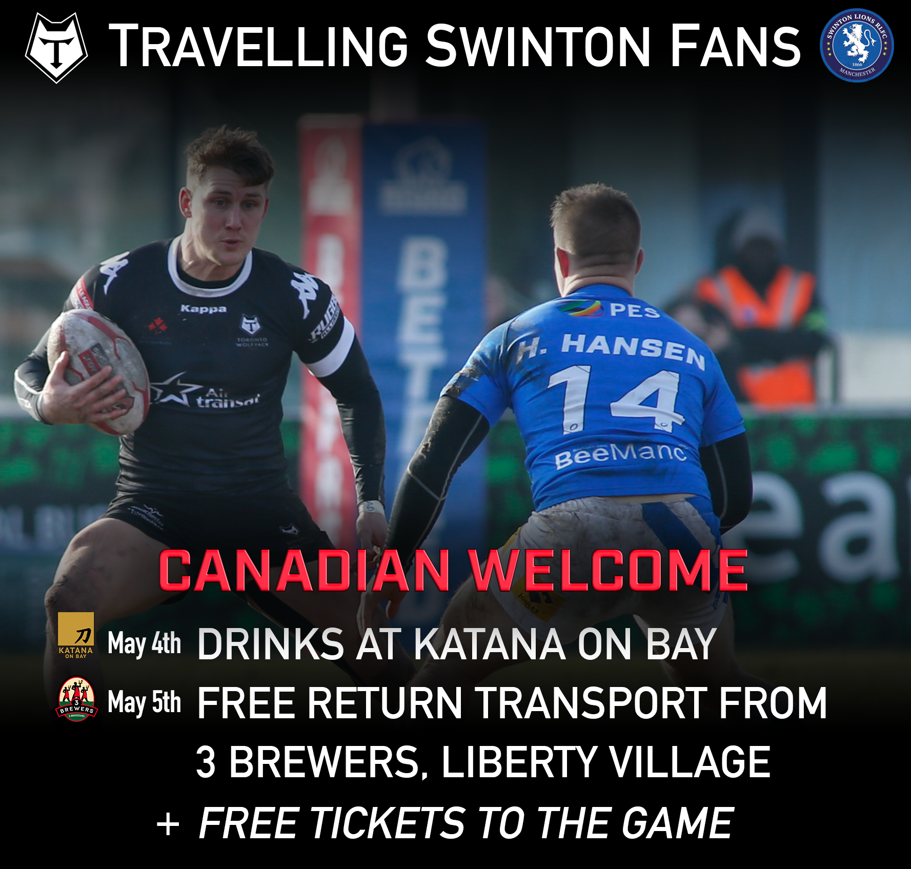An invitation from toronto wolfpack swinton lions the groundbreaking journey to canada the chairman of our hosts for the round 13 betfred championship fixture david argyle has issued an invitation to stopboris Images